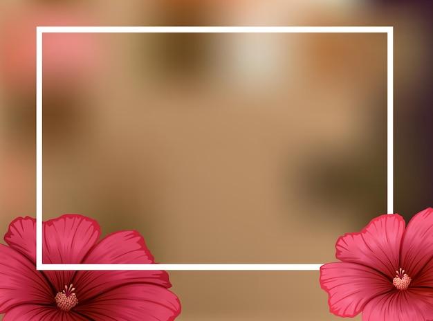 Szablon granicy z czerwonymi kwiatami