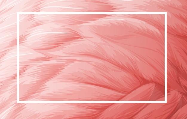 Szablon granicy z różowym piórkiem