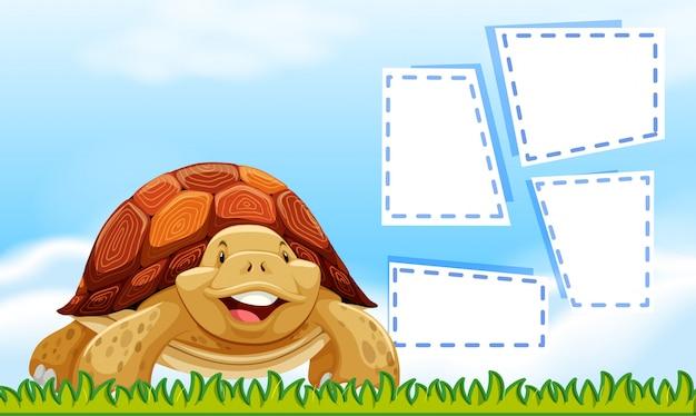 Szablon granicy żółwia niebo