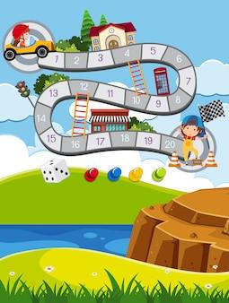 Szablon gry dla dzieci na świeżym powietrzu