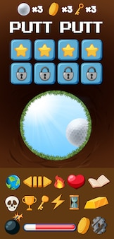 Szablon gry w golfa