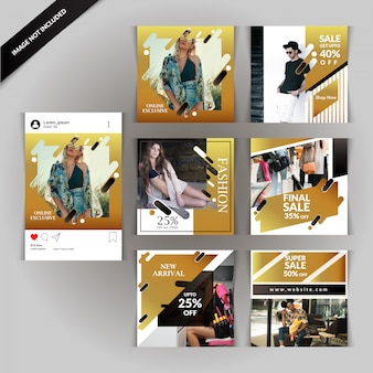 Szablon historii mody na Instagramie
