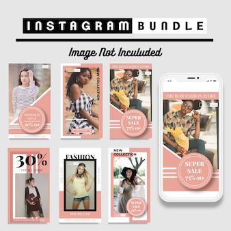Szablon historii mody na kreatywne zniżki instagram
