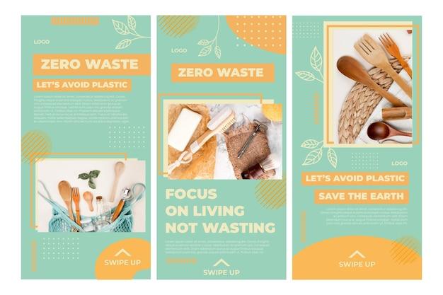 Szablon historii na instagramie dla środowiska zero waste