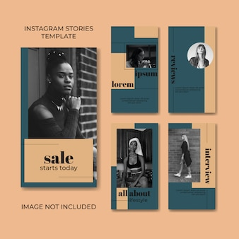 Szablon historii na instagramie mody