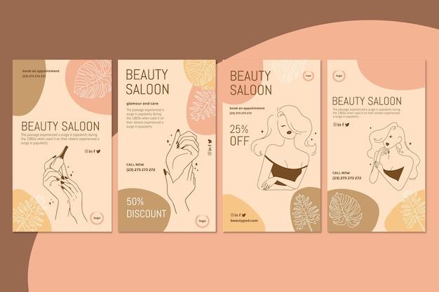 Szablon historii na instagramie salon piękności