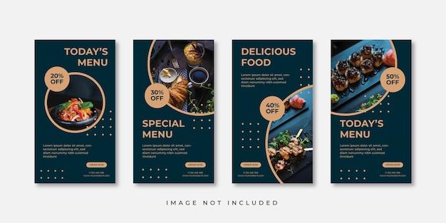 Szablon historii na instagramie z jedzeniem
