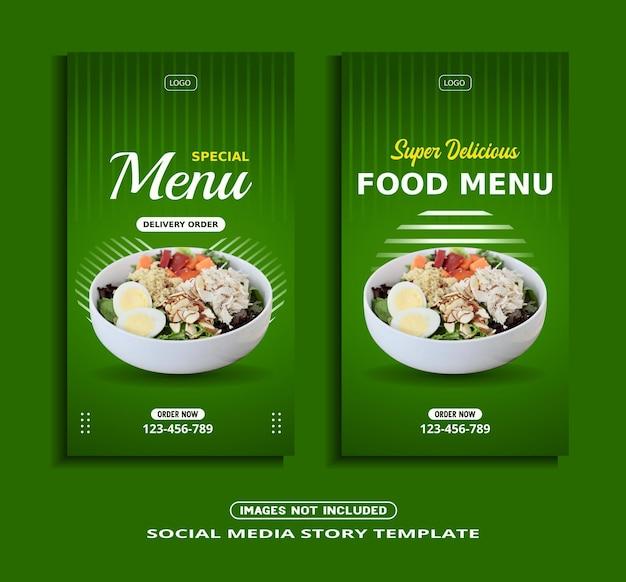 Szablon historii na instagramie żywności