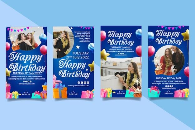 Szablon historii urodzinowych na instagramie