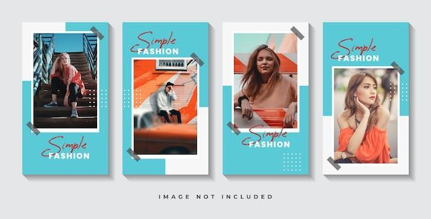 Szablon historii w mediach społecznościowych mody