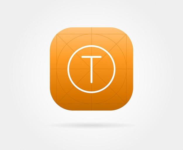 Szablon ikony aplikacji z wytycznymi. świeży kolor