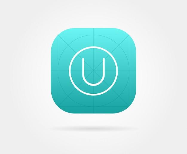 Szablon ikony aplikacji z wytycznymi.