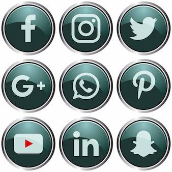 Szablon ikony mediów społecznościowych.