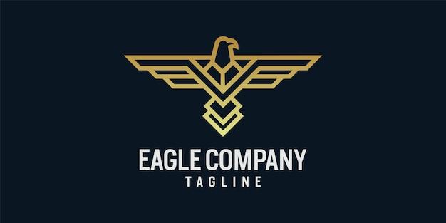 Szablon ikony projektu logo orła