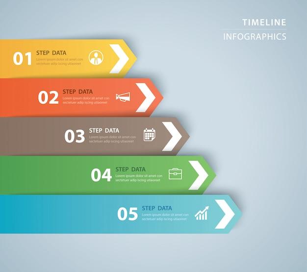 Szablon indeksu papieru zakładki infografiki danych.