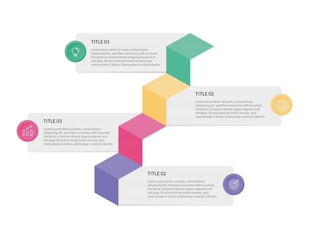 Szablon infografika biznesu dla prezentacji