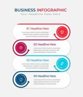 Szablon infografika prezentacji biznesowych
