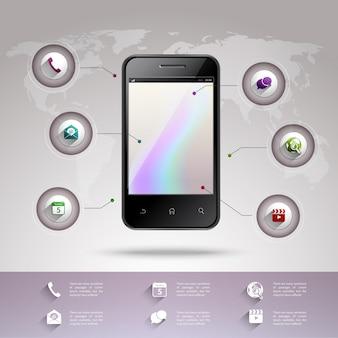 Szablon infografika smartphone
