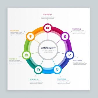 Szablon infografika zarządzania przedsiębiorstwem