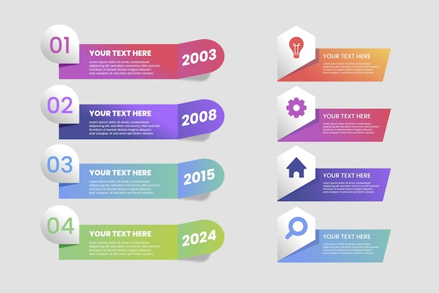 Szablon infografikę gradientową