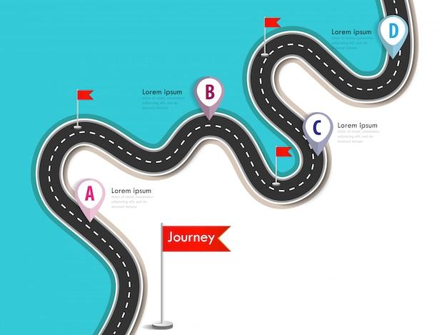 Szablon infografiki biznesowych i podróży z flagami i miejscem na dane