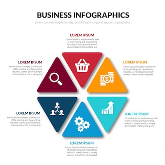 Szablon infografiki biznesowych