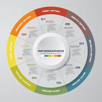 Szablon infografiki koło