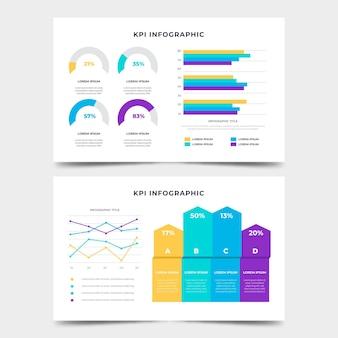 Szablon infografiki kpi