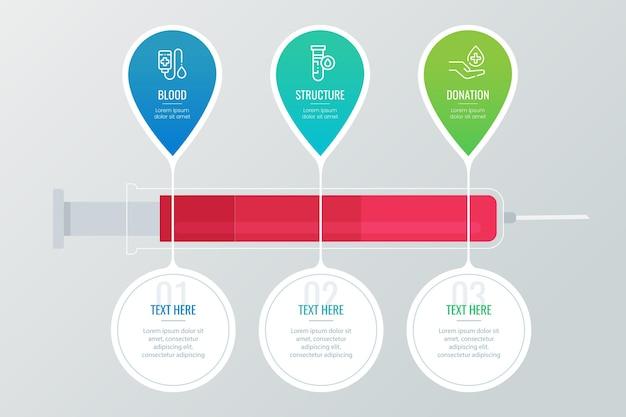 Szablon infografiki krwi gradientu