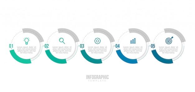 Szablon infografiki minimalne biznesowe.