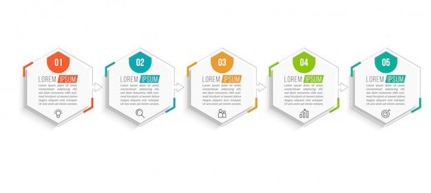 Szablon infografiki minimalne biznesowe