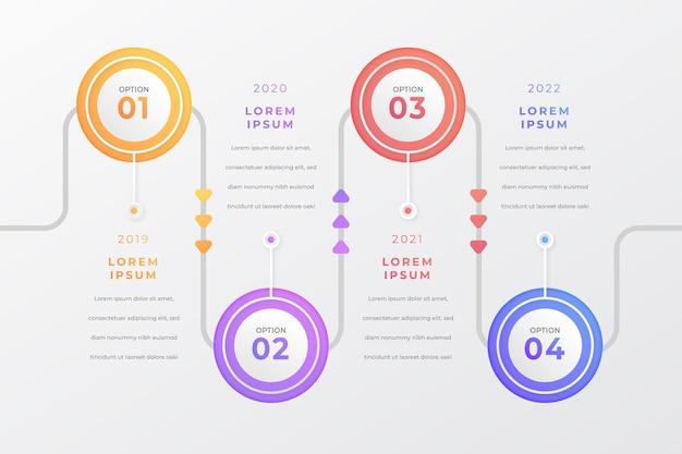 Szablon Infografiki Osi Czasu Gradientu Darmowych Wektorów