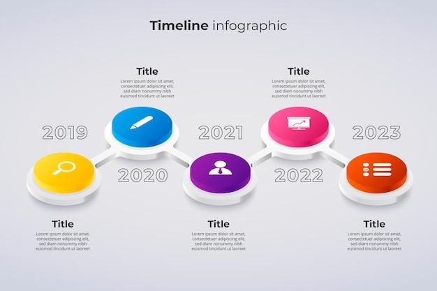 Szablon infografiki osi czasu koncepcja diagramu kamienia milowego lub procesu