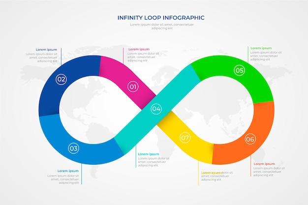 Szablon infografiki pętli nieskończoności
