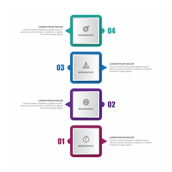 Szablon infografiki pionowej osi czasu