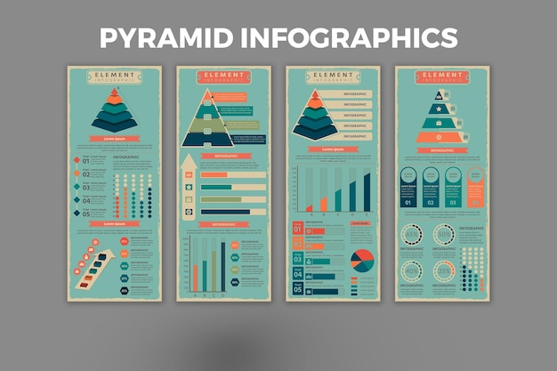 Szablon infografiki piramidy