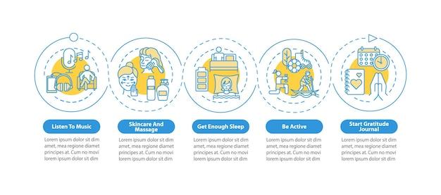 Szablon infografiki praktyk samoopieki