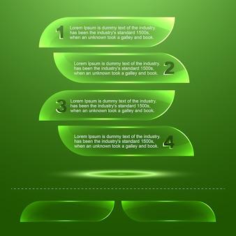 Szablon infografiki przezroczystego szkła