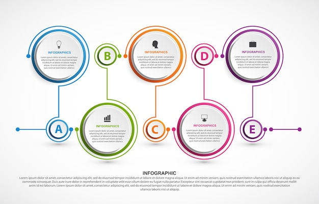 Szablon infografiki streszczenie opcje