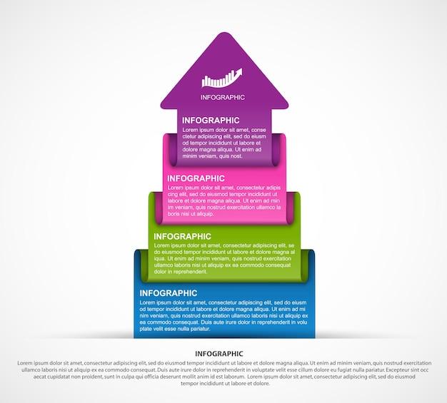 Szablon infografiki streszczenie opcje.