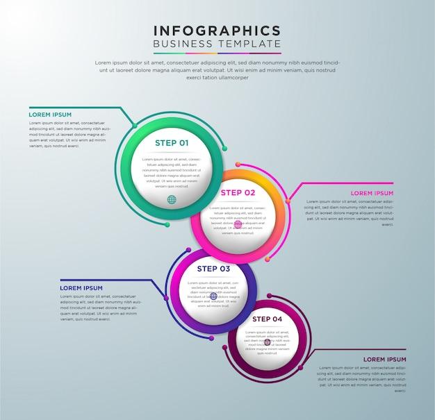 Szablon infografiki wektor