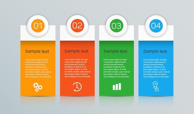 Szablon infografiki z 4 opcjami dla biznesu