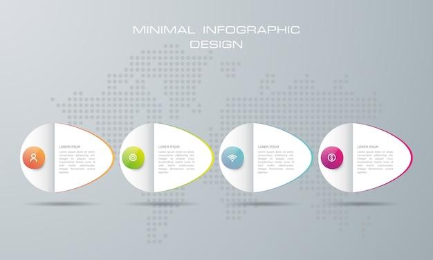 Szablon infografiki z 4 opcjami