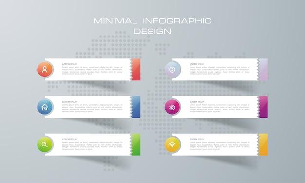 Szablon infografiki z 6 opcjami