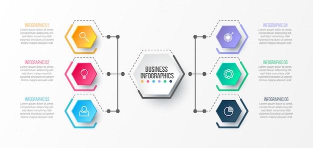 Szablon infographic 3d do prezentacji. wizualizacja danych biznesowych. elementy abstrakcyjne. koncepcja kreatywnych infografikę.