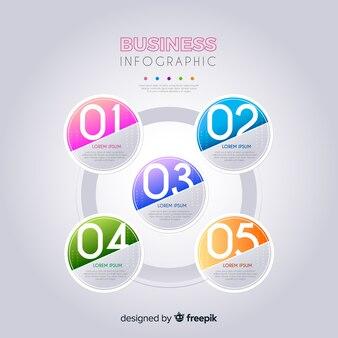 Szablon infographic biznesu