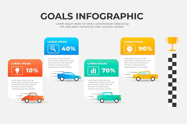Szablon infographic cele