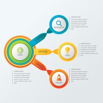 Szablon infographic firmy circle