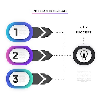 Szablon infographic krok biznes