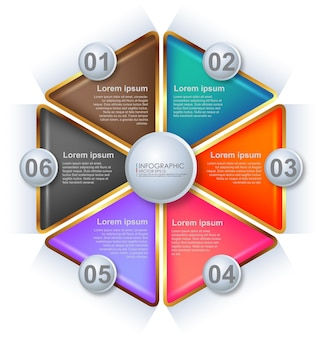 Szablon infographic nowoczesny design minimalistyczny styl.
